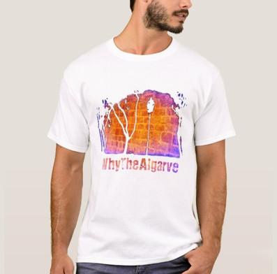 whythealgarve - sunset stones - white t.