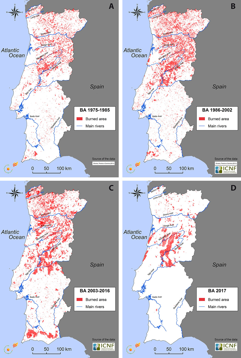 Figure from OpWildfires in Portugal over multiple years. Figure from OpenEdition JournalsenEdition Journals