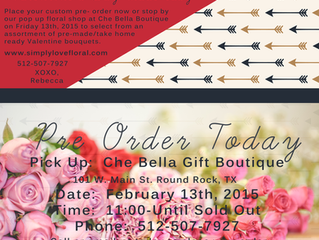 Valentine's Day Pop Up Shop