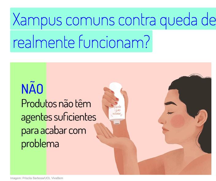 Xampus para queda