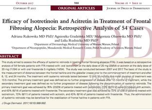 Retinoides (isotretinoína/acitretina): resultados animadores no tratamento da alopecia fibrosante fr