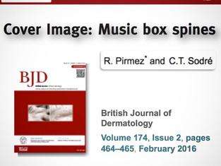Publicação científica é capa do British Journal of Dermatology