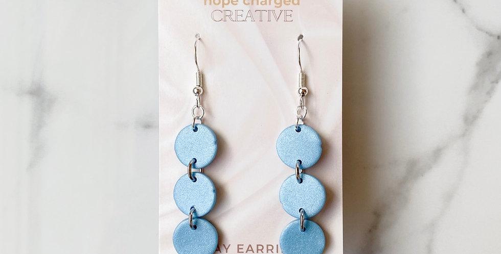 Mini Three Sisters in Bluestone | Clay Earrings