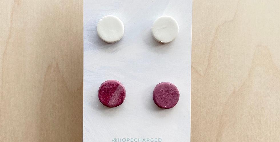 Wine Studs | Clay Earrings