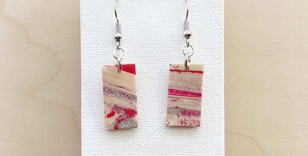 Hint of Christmas | Clay Earrings