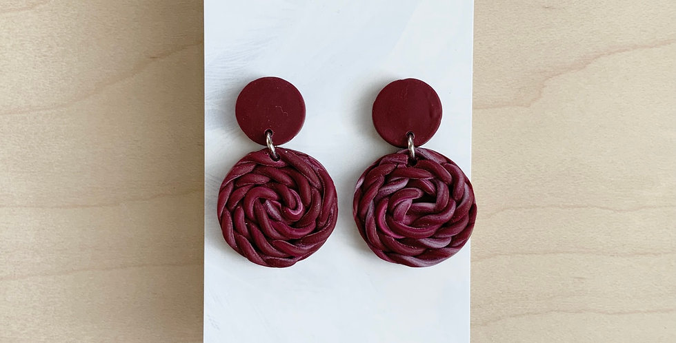 Comfortable In My Royal Identity | Clay Earrings