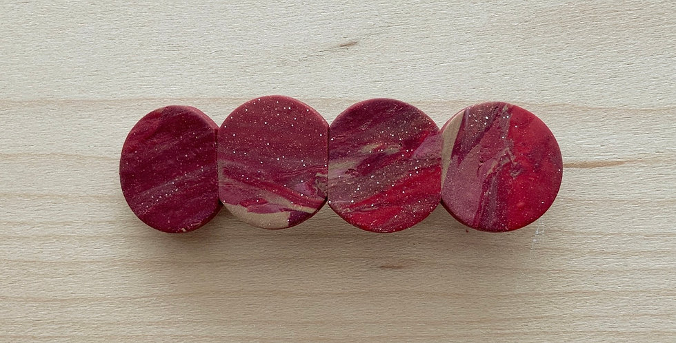 New Wine Marble | Clay Barrettes