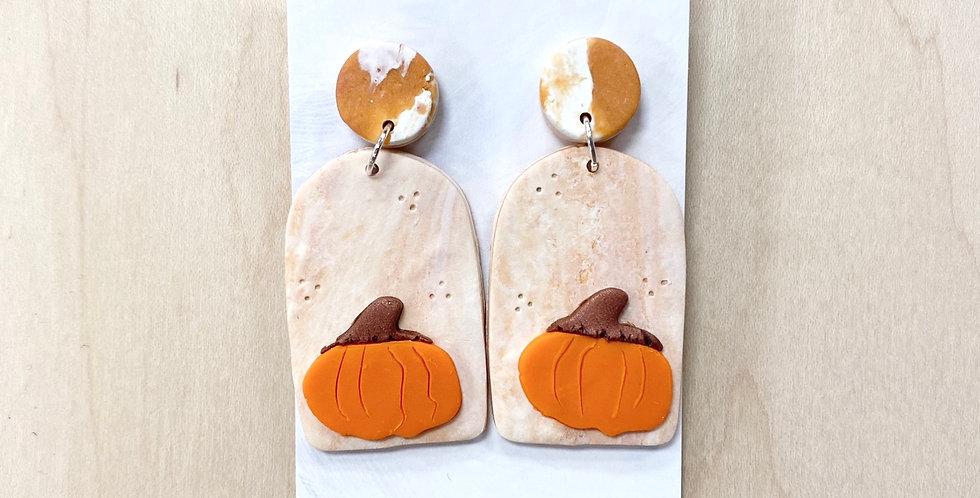 Harvesting Pumpkin Spice   Clay Earrings