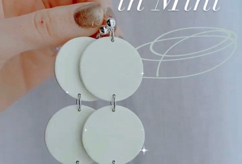 XL Three Sisters in Mint | Clay Earrings
