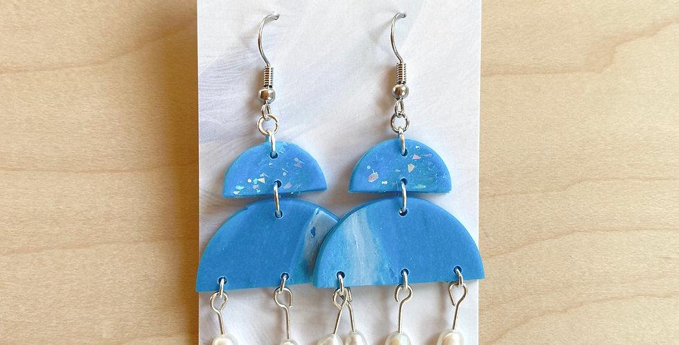 Fresh Water Chandelier | Clay Earrings
