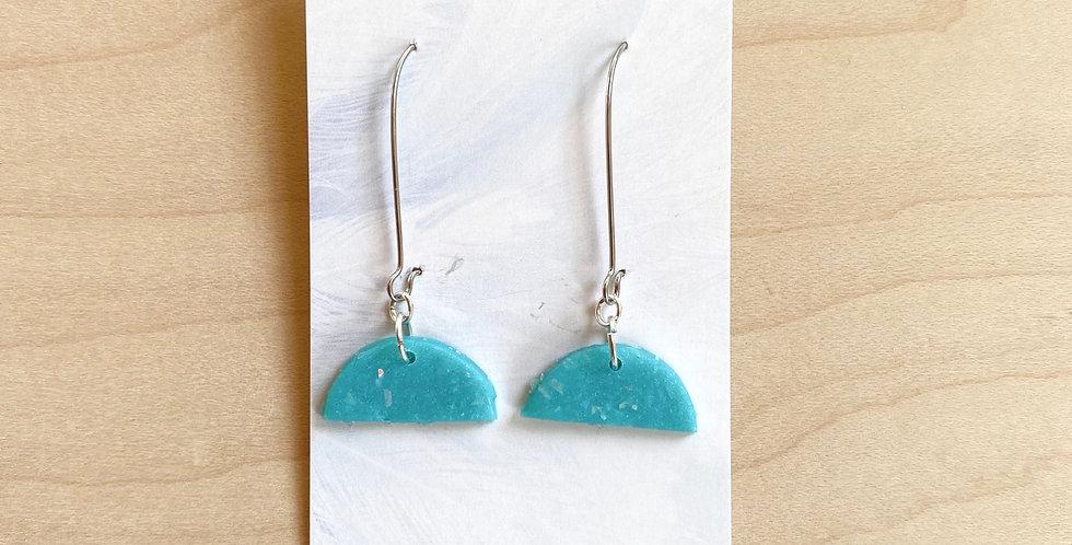 Aqua Drops | Clay Earrings