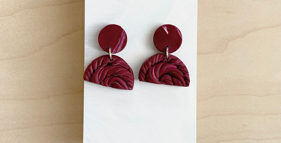 Content In My Royal Identity | Clay Earrings