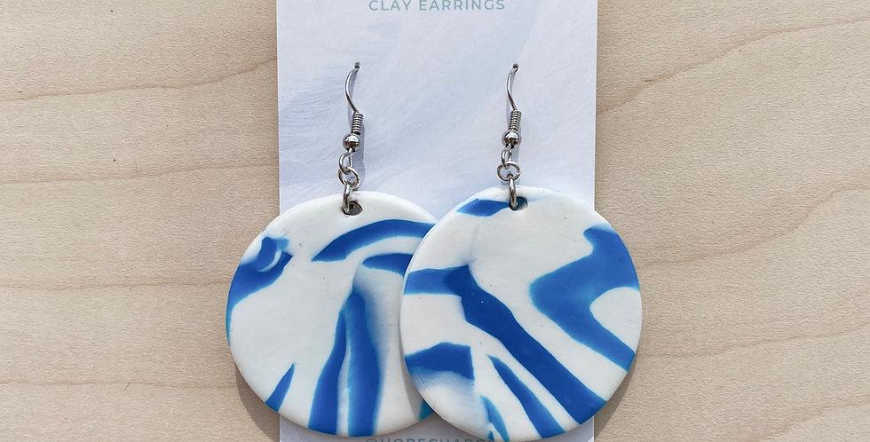 My Blue 🦓 | Wearable Art | Clay Earrings
