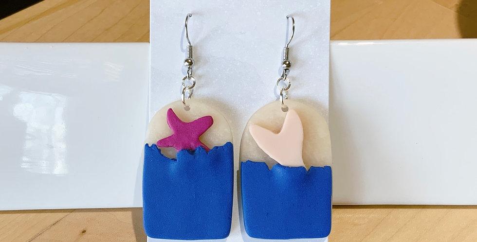 Ocean of Life | Beachy Style V | Clay Earrings