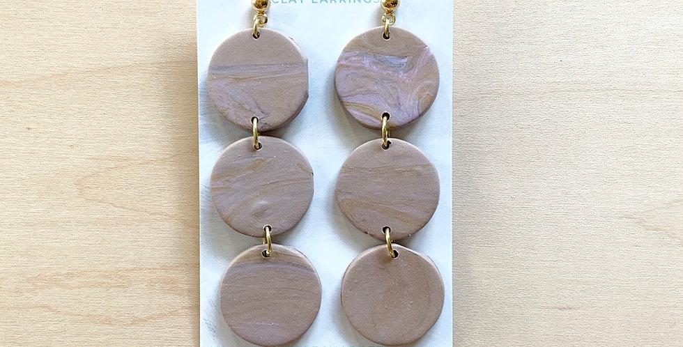 Three Sisters' Lavender Lattes | Clay Earrings