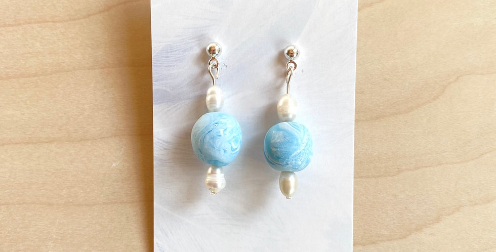 Beads of Living Water | Clay Earrings