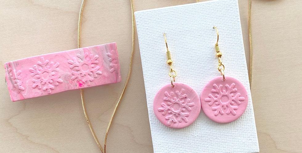 Joyful Pink Winter Bundle | Clay Earrings