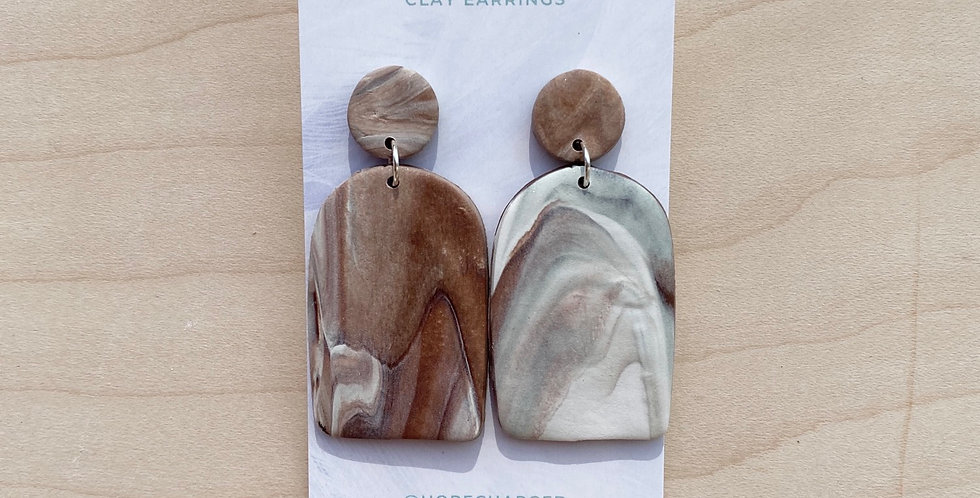 True Marble Arch | Clay Earrings