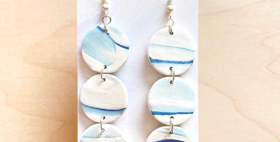 Peaceful Three Sisters | Clay Earrings