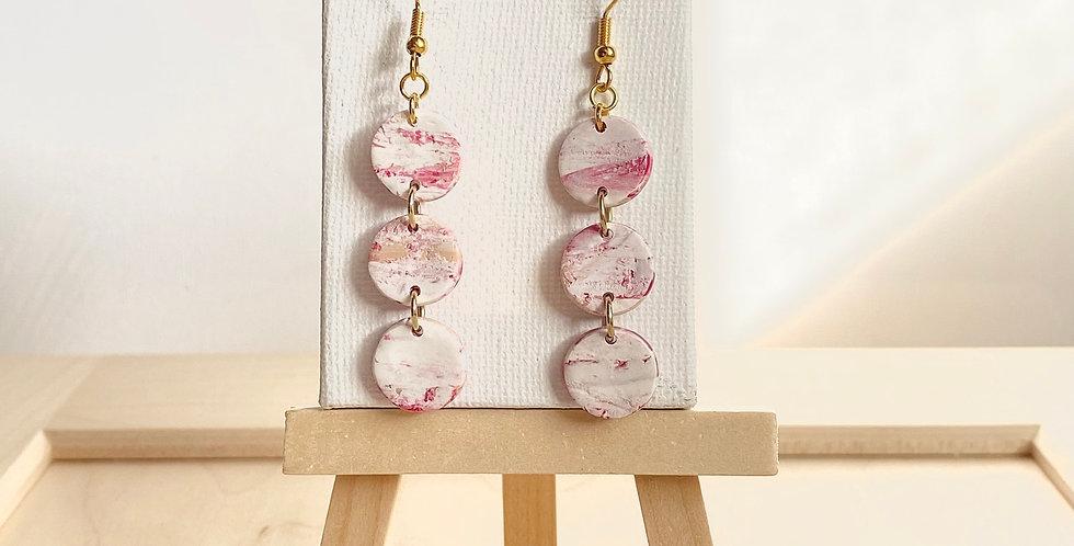 Mini Three Sisters & Joyful Winter Marble | Clay Earrings