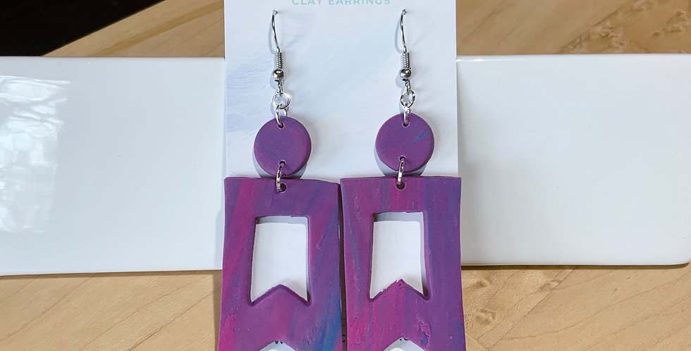 Statement Of Joy | Banner Style | Clay Earrings