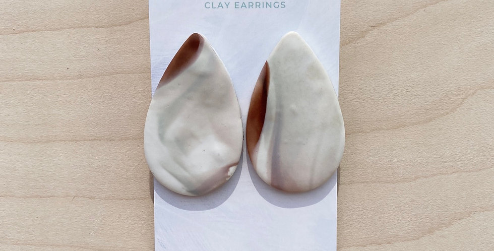 Statement Marble Drops | Clay Earrings