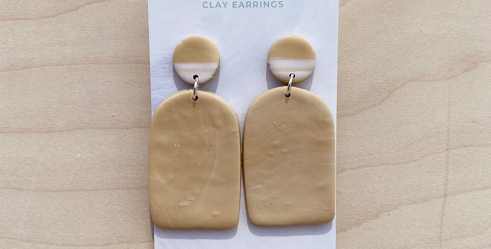 Nature's Sand Arch | Clay Earrings