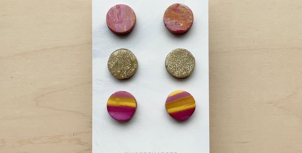 Fall Studs | Clay Earrings