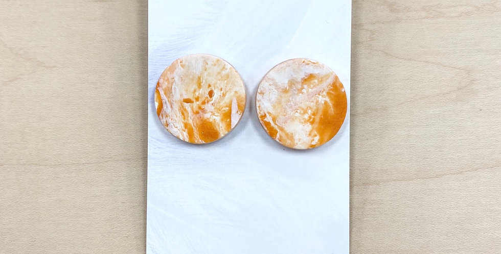 Pumpkin Pie Buttons | Clay Earrings