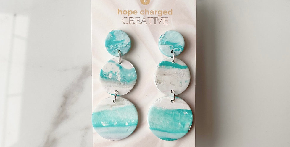 Ocean View Winter Treasure | Clay Earrings