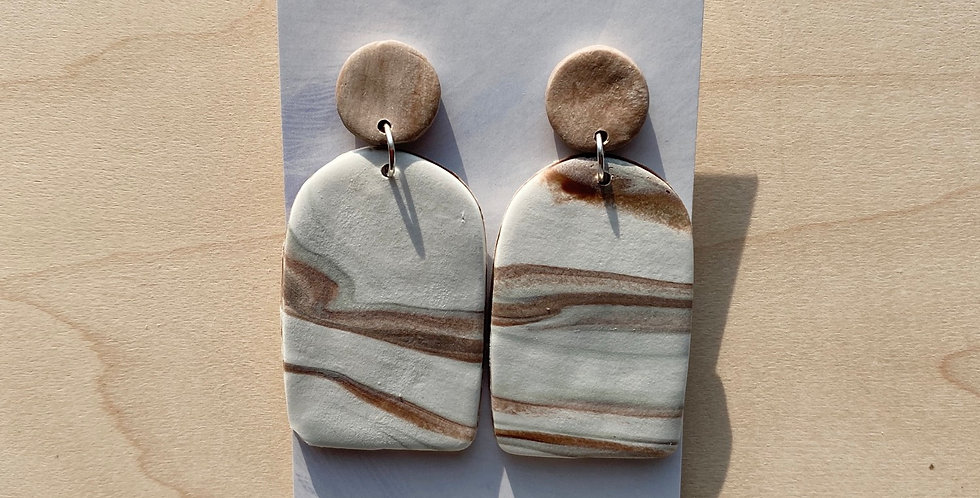 Seasons Changing Arch | Clay Earrings