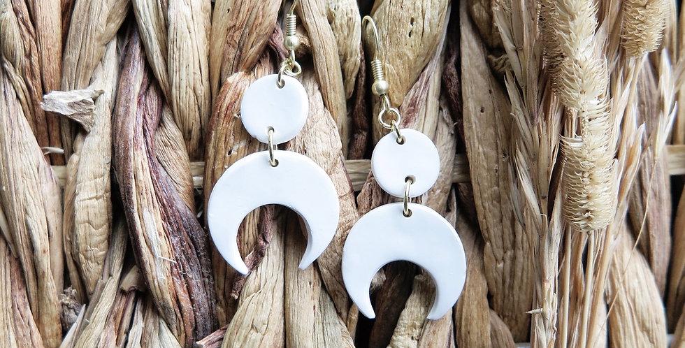 Original Moon Drops | Clay Earrings