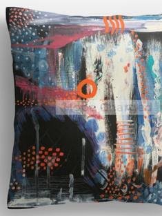 Print of Original Painting | Besign You In The Valley | Pillow