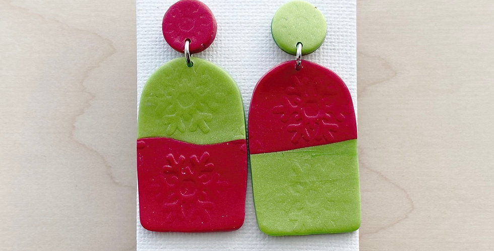 Mix & Match Christmas Arches | Clay Earrings