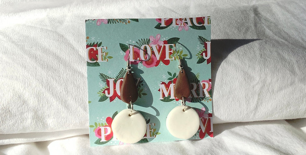 Xmas Chocolate • Clay Earrings