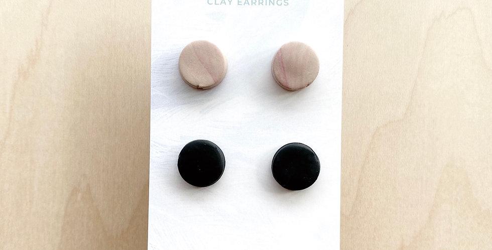 Hanna Studs | Clay Earrings