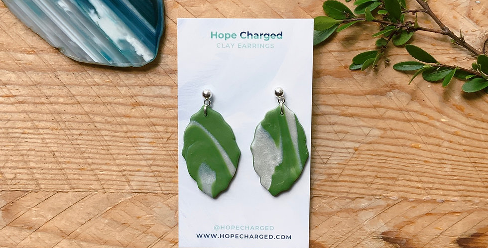 Elegant Leaves | Modern Style | Clay Earrings