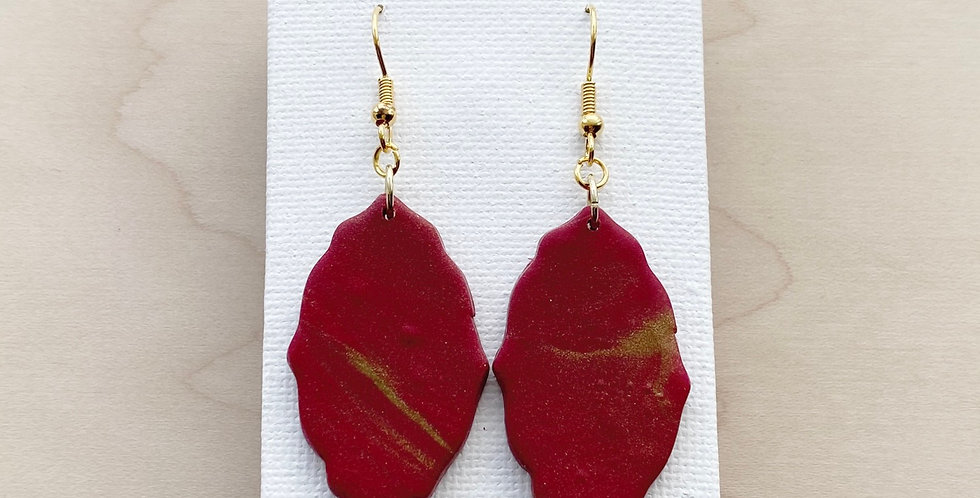 Touch of Christmas In The Air | Clay Earrings
