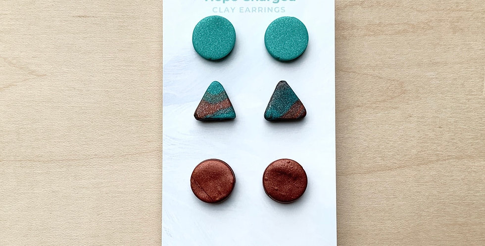 Alberta Studs | Clay Earrings