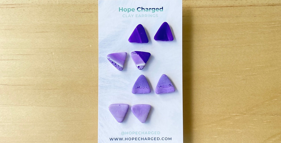 The Triangle Studs | Amethyst Collection