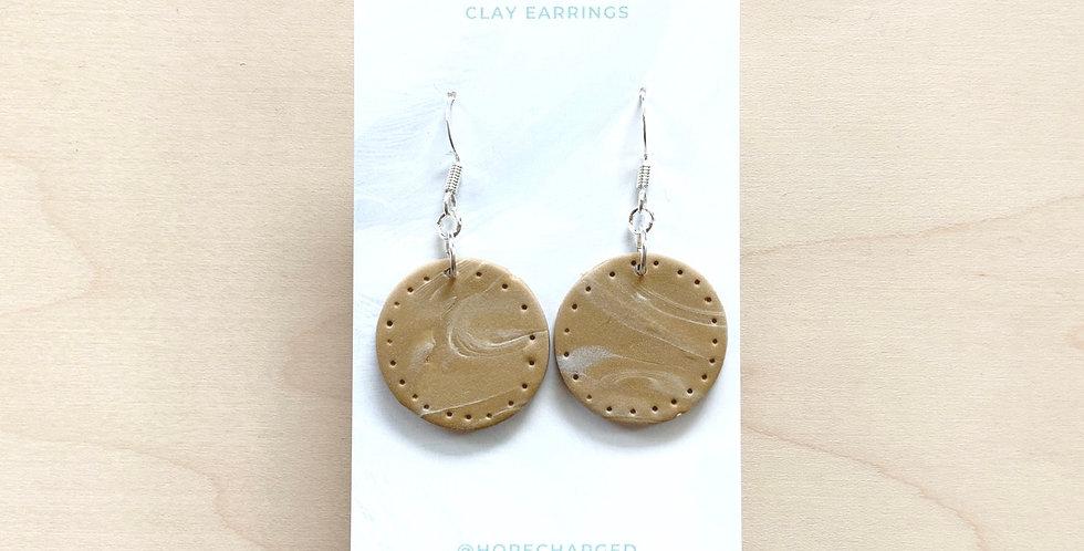 Oat Mylk Latte Art  | Clay Earrings