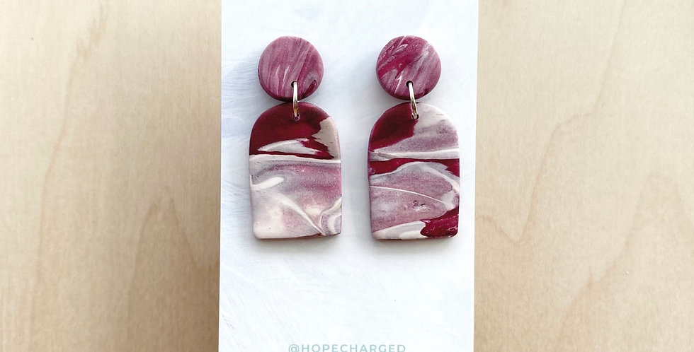New Wine Arches | Clay Earrings