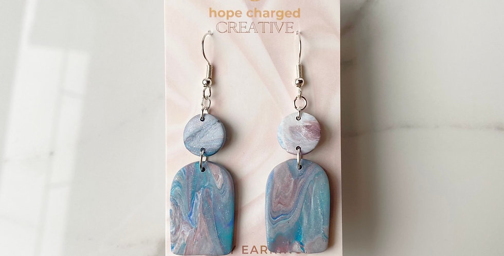 Nepal Marble Arch | Clay Earrings