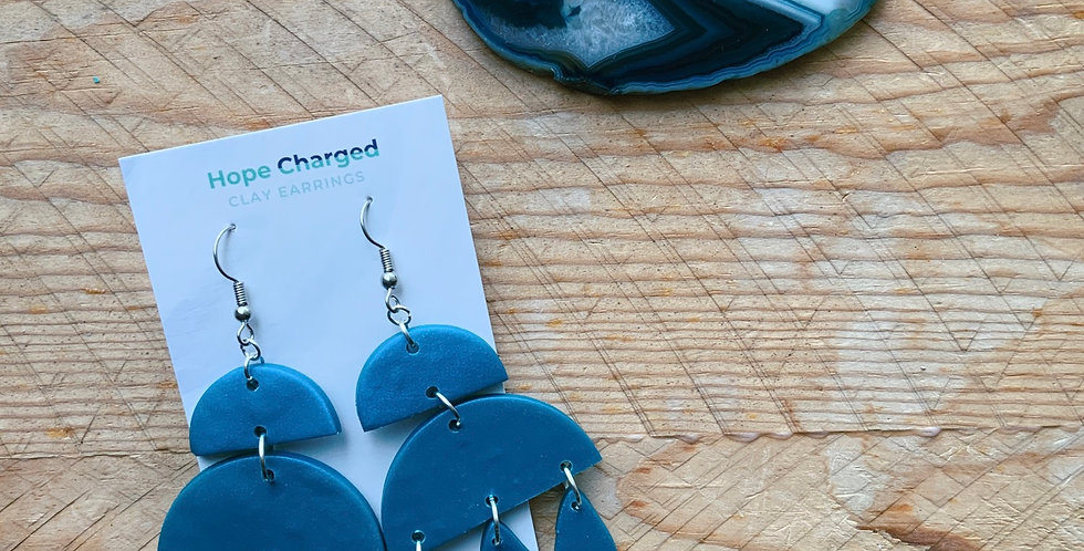 Classic Blue | Chandelier Collection | Clay Earrings