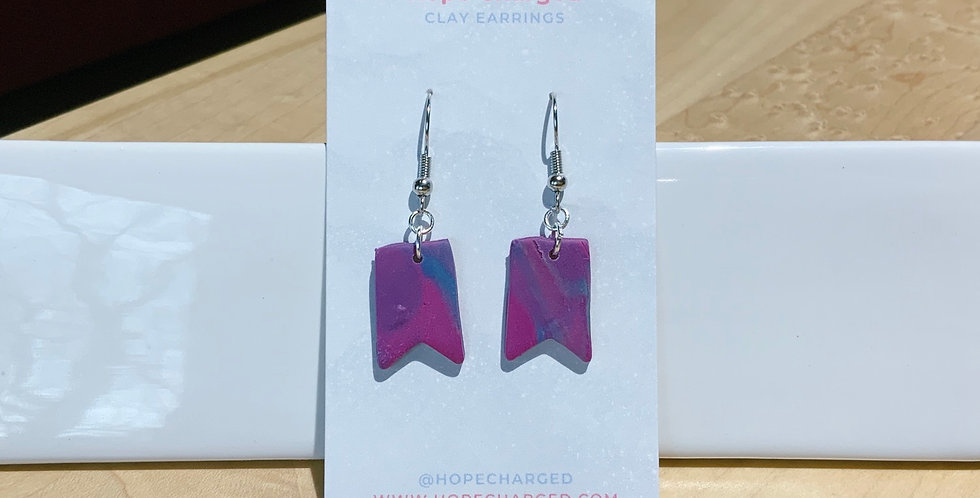 Sign Of Wonder | Banner Style IV | Clay Earrings