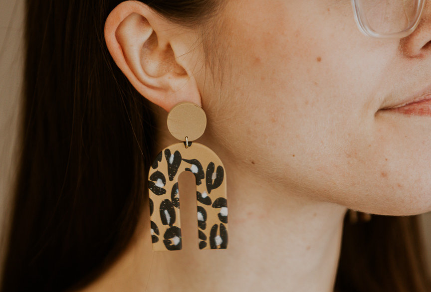 King's Heights (Leopard) | Clay Earrings