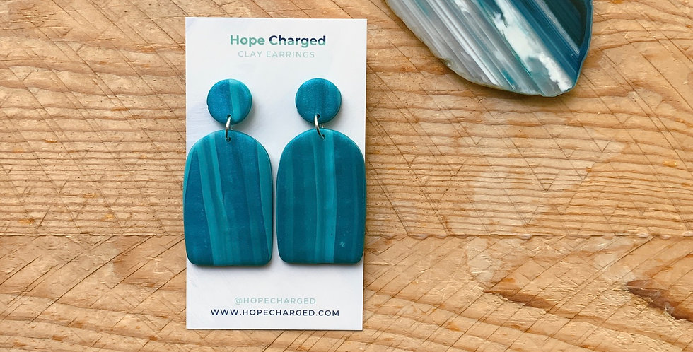 Aqua Cove | Arch Collection | Clay Earrings
