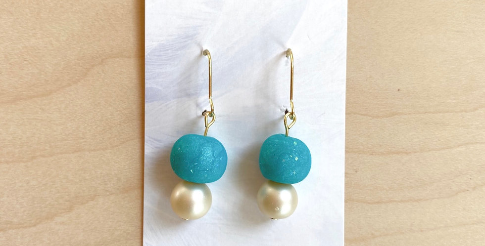 Stacked Beads | Clay Earrings