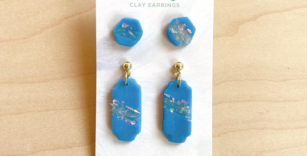 Fresh Water & Opal Studs | Clay Earrings