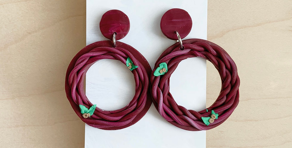 Woven Into My Royal Identity | Clay Earrings